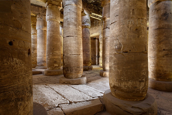 [Egypt 29859] 'Second Hypostyle Hall of Seti I Temple at Abydos.'