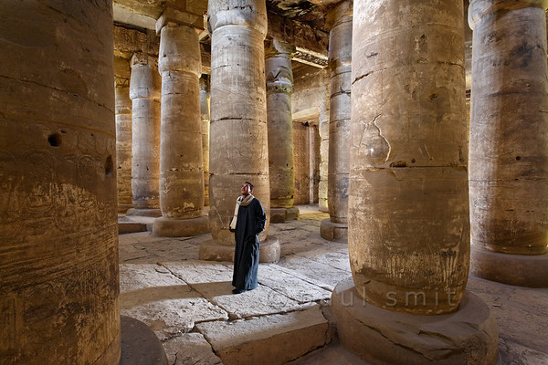 [Egypt 29857] 'Second Hypostyle Hall of Seti I Temple at Abydos.'