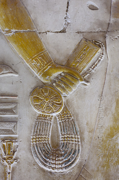 [Egypt 29934] 'Menat necklace in Seti Shrine at Abydos'.