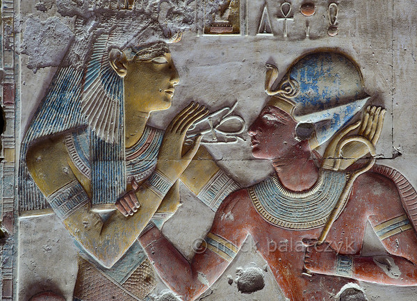 [Egypt 29873] 'Seti and Iousas at Abydos.'