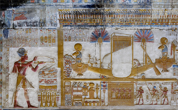 [Egypt 29896] 'Seti in front of portable barque of Amun at Abydos.'