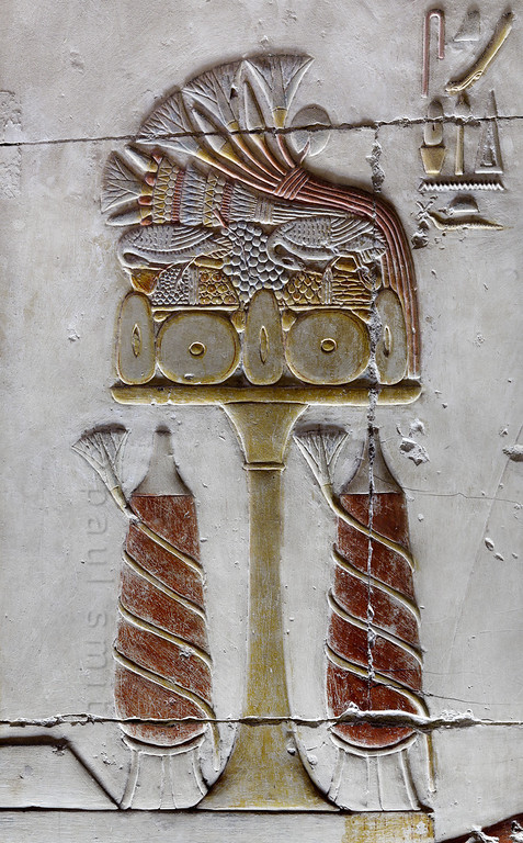 [Egypt 29950] 'Offerings in Inner Osiris Hall at Abydos'.