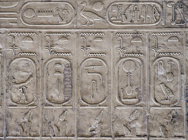 [Egypt 29968] 'Pharaoh list at Abydos.'