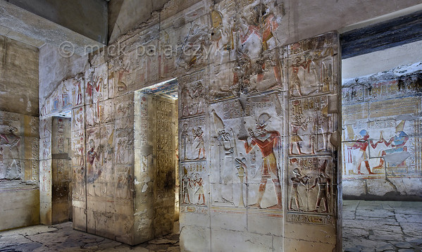 [Egypt 29913] 'Inner Osiris Hall of the Seti I Temple at Abydos.'