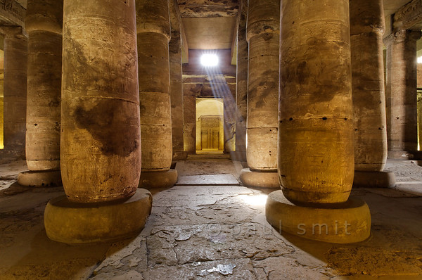 [Egypt 29856] 'Second Hypostyle Hall of Seti I Temple at Abydos.'