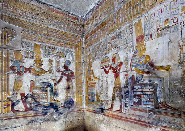 [Egypt 29938] 'Isis Shrine in Seti I Temple at Abydos.'