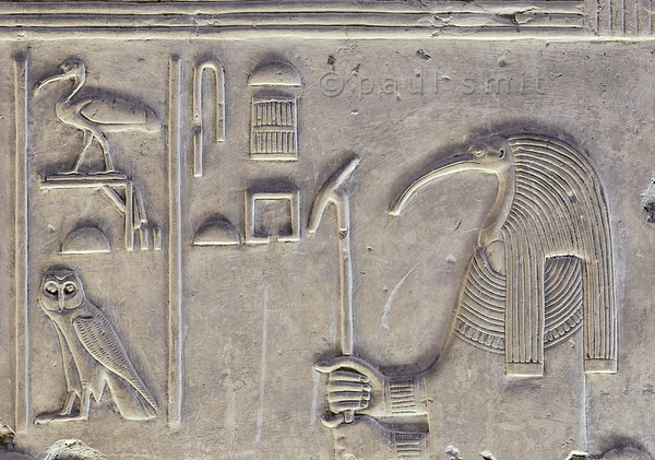 [Egypt 29957] 'Thoth in Nefertem-Ptah-Sokar Hall at Abydos'.