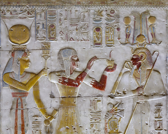 [Egypt 29932] 'West wall of Seti Shrine at Abydos'.