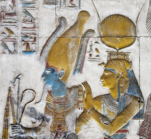 [Egypt 29919] 'Osiris and Isis at Abydos'.