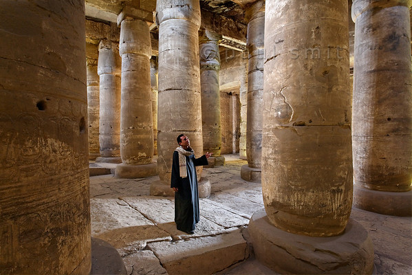 [Egypt 29858] 'Second Hypostyle Hall of Seti I Temple at Abydos.'