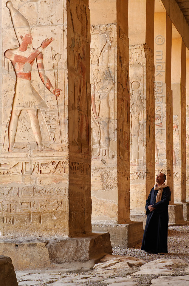 [Egypt 29849] 'Portico of Seti I Temple at Abydos.'