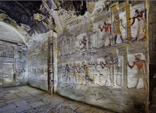 [Egypt 29880] 'Chapel of Amun in the Seti I Temple at Abydos.'