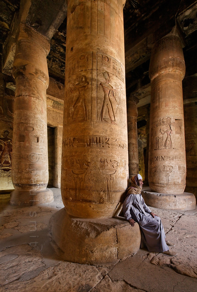 [Egypt 29850] 'First Hypostyle Hall of Seti I Temple at Abydos.'
