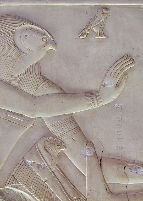 [Egypt 29959] 'Horus in Ptah-Sokar Chapel at Abydos.'