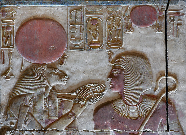 [Egypt 29868] 'Seti and Sekhmet at Abydos.'