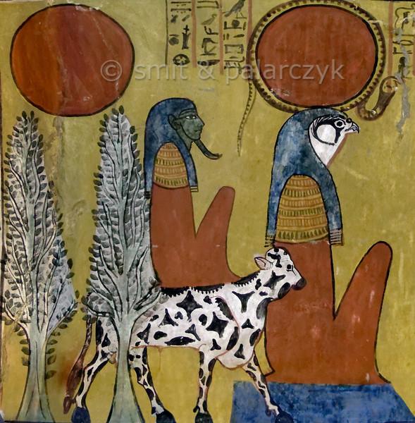 [EGYPT 29418] 'Sunrise in Sennedjem's tomb at Luxor.'