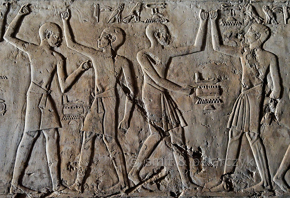 [EGYPT 29405a] 'Dancers in Kheruef's tomb at Luxor.'