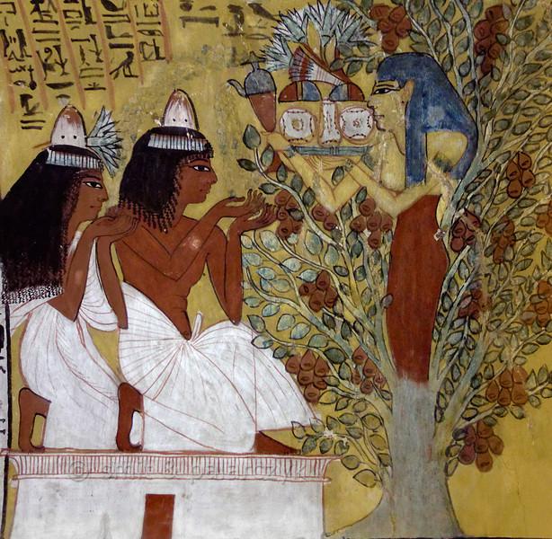 [EGYPT 29417] 'Tree goddess in Sennedjem's tomb at Luxor.'