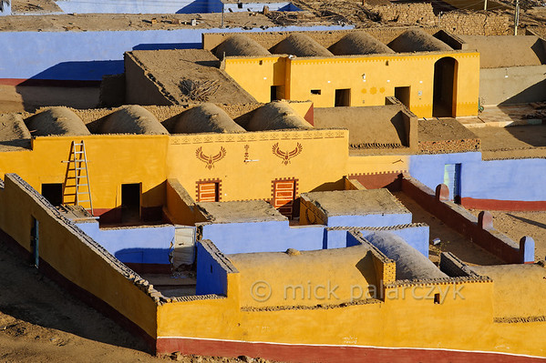 [Egypt 29643] 'Houses in Nubian village near Aswan.'