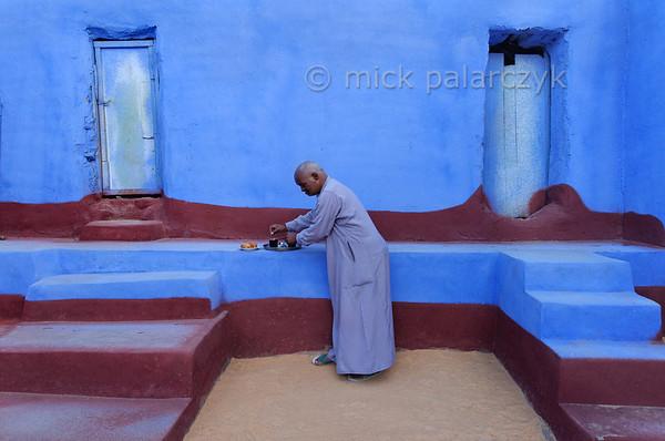 [Egypt 29652] 'Courtyard in Nubian house at Nagaa Al Hamdelab.'
