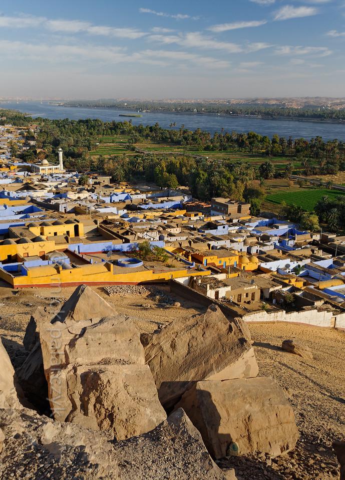 [Egypt 29640] 'Village of Nagaa Al Hamdelab and Nile.