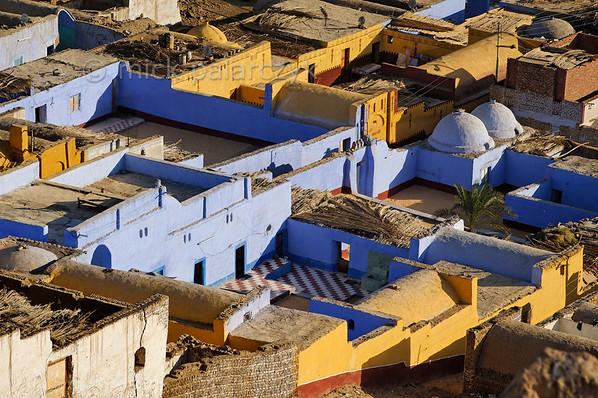 [Egypt 29644] 'Houses in Nubian village near Aswan.'