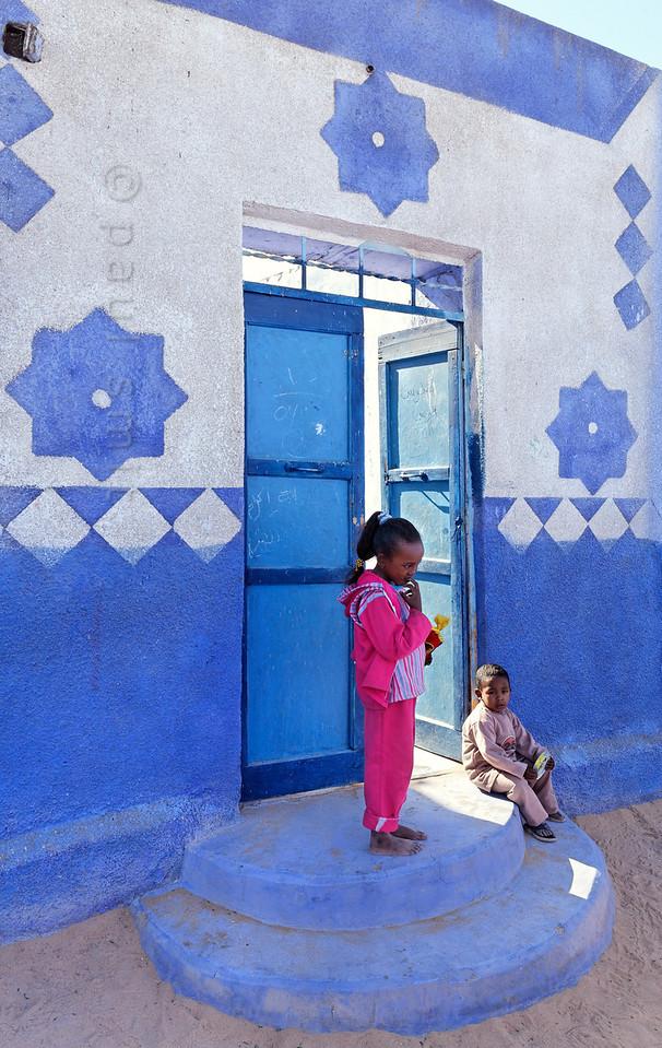 [Egypt 29647] 'Street in the Nubian Village of Nagaa Al Hamdelab.'