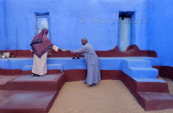 [Egypt 29651] 'Courtyard in Nubian house at Nagaa Al Hamdelab.'