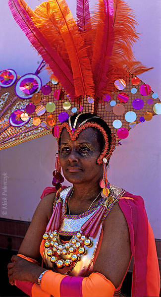 [ANTILLES.stMAARTEN 25.642] 'Carnival-7.' On St.Maarten, carnival is usually celebrated during the second half of April. This image was shot just outside Philipsburg during the preparations of the Grand Parade. Photo Mick Palarczyk.