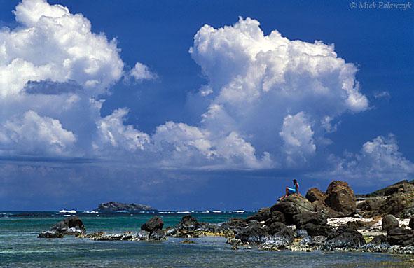 [ANTILLES.stMARTIN 25.708] 'Baie de l'Embouchure.' The east coast of St. Martin at the Baie de l'Embouchure. Photo Mick Palarczyk.
