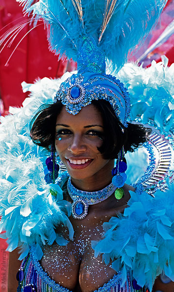 [ANTILLES.stMAARTEN 25.651]  'Carnival-19.'  On St. Maarten, carnival is usually celebrated during the second half of April. This image was shot just outside Philipsburg during the preparations of the Grand Parade. Photo Mick Palarczyk.