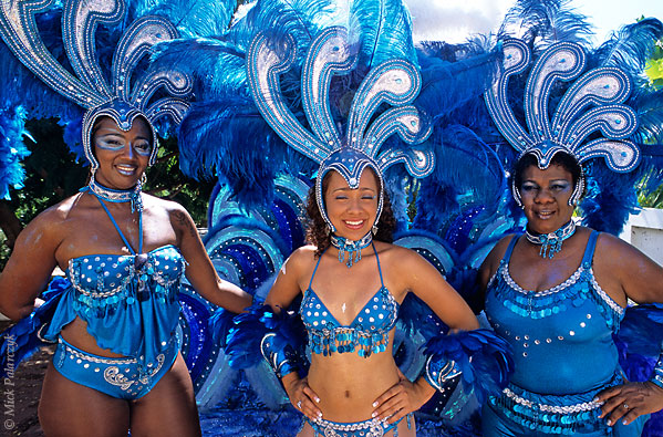 [ANTILLES.stMAARTEN 25.640] 'Carnival-5.' On St.Maarten, carnival is usually celebrated during the second half of April. This image was shot just outside Philipsburg during the preparations of the Grand Parade. Photo Mick Palarczyk.