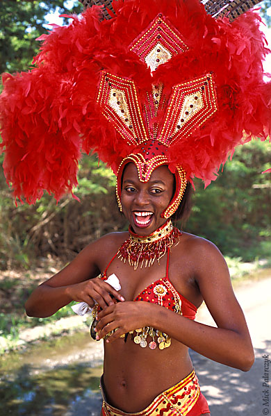 [ANTILLES.stMAARTEN 25.662] 'Carnival-13.' On St. Maarten, carnival is usually celebrated during the second half of April. This image was shot just outside Philipsburg during the preparations of the Grand Parade. Photo Mick Palarczyk.