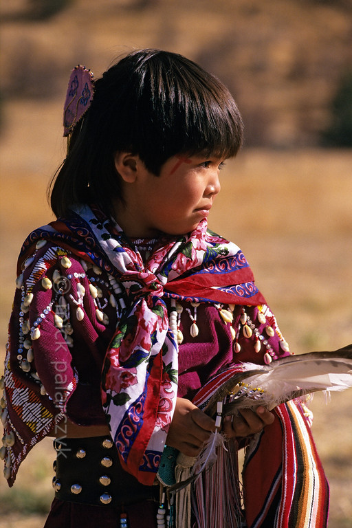 [USA.OREGON 28829] 'Indian girl.'  	A young member of the Walla Walla (or Warm Spring) Indian tribe and inhabitant of the Warm Springs Reservation. Photo Mick Palarczyk.
