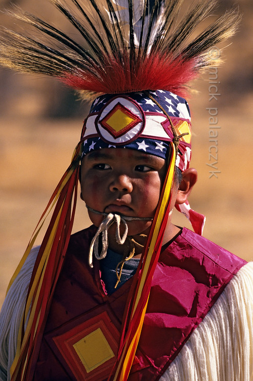 [USA.OREGON 28836] 'Indian boy.'  	A young member of the Walla Walla (or Warm Springs) Indian tribe. Photo Mick Palarczyk.