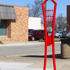 """Lady in Red,"" by Robert Lamberson of Dannebrog, Neb., is located at the corner of Washington Avenue and Banker Street."
