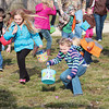 Kids in Stewardson scramble for eggs at the Stewardson Lions Club Easter Egg Hunt at Stewardson Village Park.