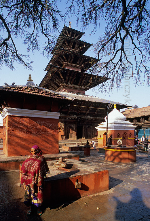 [NEPAL.KATHMANDUVALLEY 27333] 'Kumbeshwar Temple in Patan.'  Patan's Kumbeshwar Temple (the oldest in the city) was built as a two-roofed structure in 1392 but received three more levels in the 17th century. It is dedicated to Shiva. Photo Mick Palarczyk.