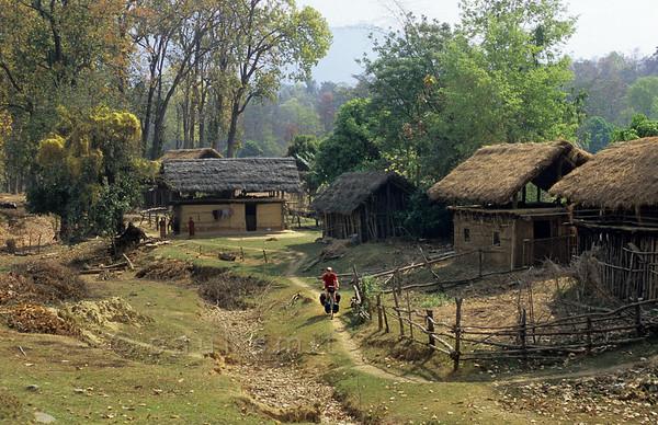 [NEPAL. 27590] 'Terai village in Rapti valley.'  Terai village in the valley of the Rapti east of Nepalganj. Photo Paul Smit.
