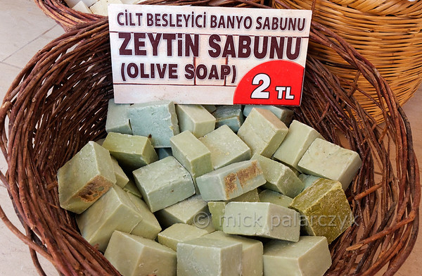 [TURKEY.EAST 29155] 'Mardin soap.'  	Mardin (in southeastern Turkey) is renowned for its soap production. It is made of olive oil, pistachios or almonds. Photo Mick Palarczyk.