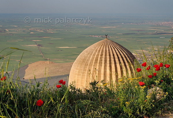 [TURKEY.EAST 29143] 'Dome of Zinciriye Medresesi in Mardin.'  	A ribbed dome of the Zinciriye Medresesi in Mardin (southeastern Turkey) overlooks the green plains of Mesopotamia. The madrasa (Islamic school) was built 1385 by the Artuqid dynasty which ruled parts of Anatolia and northern Syria from its capital Mardin. Photo Mick Palarczyk.