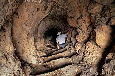[TURKEY.EAST 27871] 'Mithras tunnel at Arsameia.'  At Arsameia, the ruined capital of the Commagene kingdom in the first century BC, a tunnel descends 150m through the rock to an underground room which is thought to have been built for Mithras-worshipping rites. Commagene was a small independent kingdom squeezed between the Roman Empire and the Parthian (Persian) kingdom, east of modern Adiyaman. Photo Mick Palarczyk.