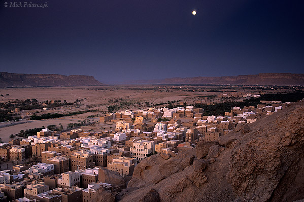 [YEMEN.SOUTH 26543] 'Wadi Hadhramawt.'  The Wadi Hadhramawt, here seen near Sahil Shibam (a 'suburb' of Shibam), is the longest wadi in the Arabian Peninsula. Photo Mick Palarczyk.