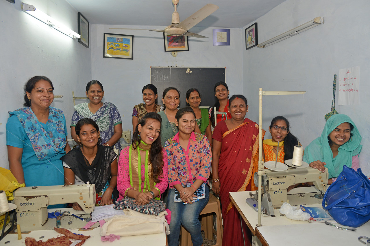 A group of women and adolescent girls are empowered and gained economic independence through vocational training as part of the core commitment of Bachpan Bachao Andolan (BBA).<br /> <br /> Bachpan Bachao Andolan is India's pioneering child rights organisation working towards the elimination of all forms of exploitation against children and for free and compulsory education of all children. Over the years BBA has rescued thousands of victims of trafficking, slavery and child labour. BBA's intervention strategy on Victims' Assistance is a rigorous exercise ranging from identification of children to rescuing child labourers to repatriating and rehabilitating them at their native villages.