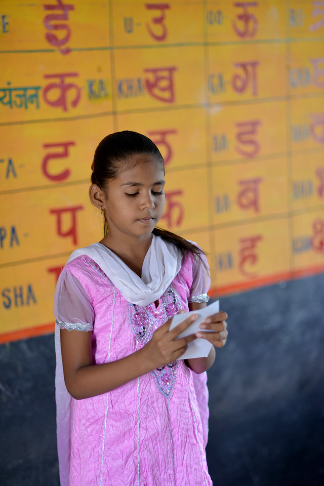 Life skill games with bal sabha members (Girl Child Parliament) at the Upper Primary School (UPS), Padiv, Serohi Block, Rajasthan.<br /> <br /> Educate Girls, founded in 2007, is a non-governmental organization that holistically tackles issues at the root of gender inequality in India's educational system. A comprehensive model reforms government schools through community ownership and ensures full enrollment, higher attendance and improved learning outcomes for all girls.
