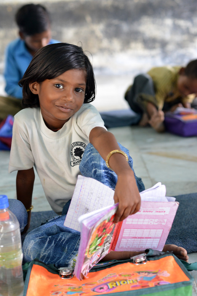 Reading to check learning levels at the Upper Primary School (UPS), Padiv, Serohi Block, Rajasthan.<br /> <br /> Educate Girls, founded in 2007, is a non-governmental organization that holistically tackles issues at the root of gender inequality in India's educational system. A comprehensive model reforms government schools through community ownership and ensures full enrollment, higher attendance and improved learning outcomes for all girls.
