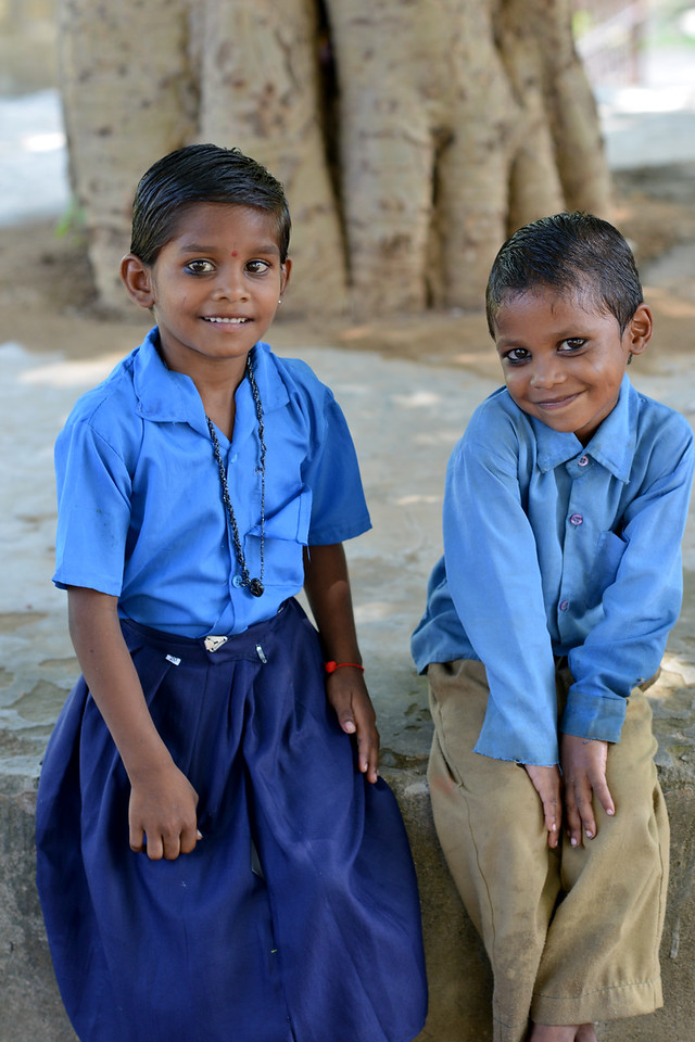 Young children at school in Rajasthan.<br /> <br /> Educate Girls, founded in 2007, is a non-governmental organization that holistically tackles issues at the root of gender inequality in India's educational system. A comprehensive model reforms government schools through community ownership and ensures full enrollment, higher attendance and improved learning outcomes for all girls.