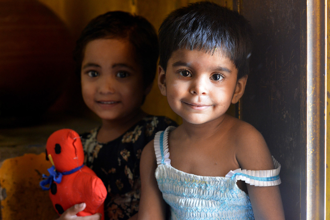 Children at the Mobile Creches, Seemapuri Centre.<br /> <br /> Mobile Creches works with birth to 12 year old children living on the construction sites and slums of Delhi(NCR) since 1969. Integrated Daycare Centers for children on construction sites are run. Mobile Creches has so far reached out to 7,50,000 children, trained 6,500 women as childcare workers, run 650 daycare centres and partnered with 200 builders.<br /> <br /> Mobile Creches runs daycares centres where children are provided education, nutrition and healthcare. Community-women and NGOs are trained to provide care and speak-up for the child. The years of experience along with strong-networks helps in the advocay for policy-change.