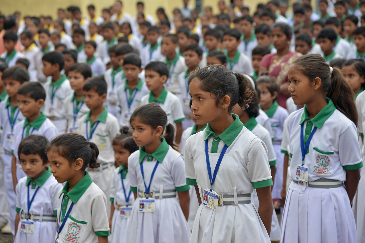 Students of the Surekha Prakashbhai Public School (SPPS) run by Nav Bharat Jagriti Kendra (NBJK) is also the location of the first activity of NBJK. Children from the rural community come to this English medium school.<br /> <br /> Nav Bharat Jagriti Kendra (NBJK) was established in 1971 by four engineering graduates who <br /> were sensitive to the causes of disparity, exploitation and poverty with an aim to <br /> establish a just society. Today they are the leading non-profit organization in Jharkhand <br /> running educational institution and health facilities.