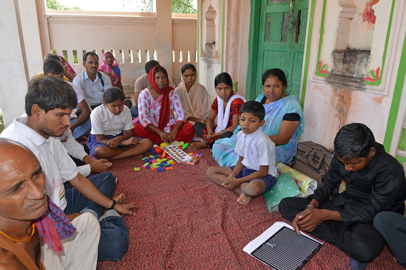 Children with disability and their parents and trainers of Nav Bharat Jagriti Kendra (NBJK) <br /> share the experiences <br /> <br /> Nav Bharat Jagriti Kendra (NBJK) was established in 1971 by four engineering graduates who <br /> were sensitive to the causes of disparity, exploitation and poverty with an aim to <br /> establish a just society. Today they are the leading non-profit organization in Jharkhand <br /> running educational institution and health facilities.